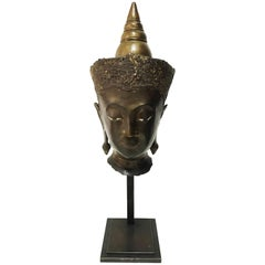 16th Century, Head of Crowned Buddha, Kamphaeng Phet, Art of Thailand
