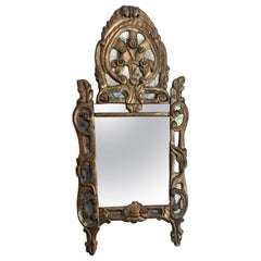 16th Century Italian Mirror with Original Glass and Gilding