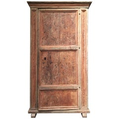 16th Century Italian Painted Cabinet Used as Storage for a Madonna Sculpture