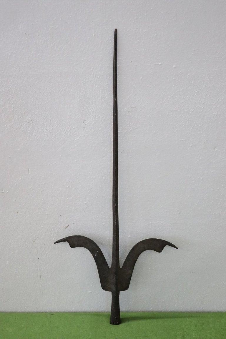 Baroque 16th Century Italian Renaissance Antique Iron Halberd Spear For Sale