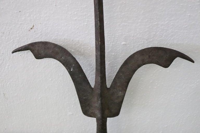 16th Century Italian Renaissance Antique Iron Halberd Spear In Good Condition For Sale In Bosco Marengo, IT