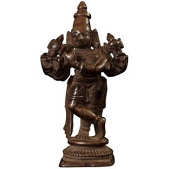 16th Century Lost Wax Cast Bronze Venugopala Form of Krishna, India