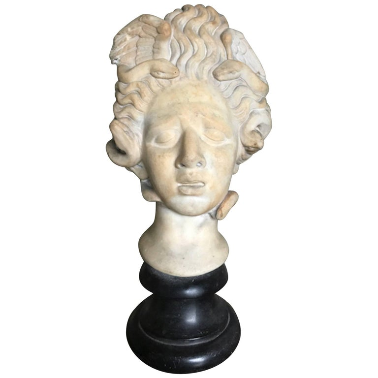 16th Century Medusa Marble Bust For Sale