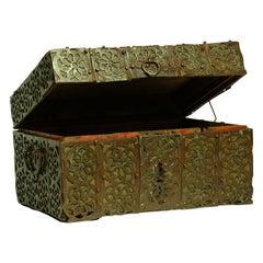 16th Century Metal/Wood Box, France