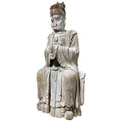 16th Century Ming Dynasty Carved Wood Buddhist Deity