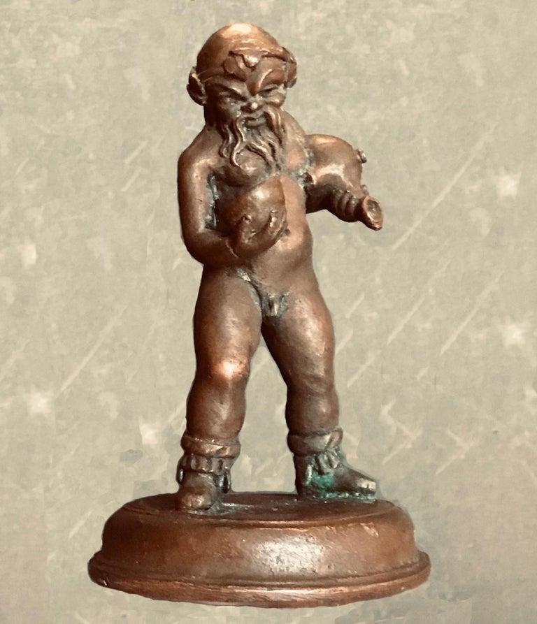 Cast 16th Century North Italian Bronze Statuette of Aquarius After the Antique For Sale