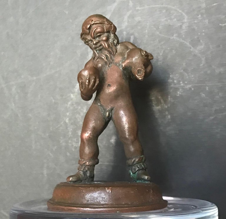16th Century North Italian Bronze Statuette of Aquarius After the Antique In Good Condition For Sale In Poughkeepsie, NY