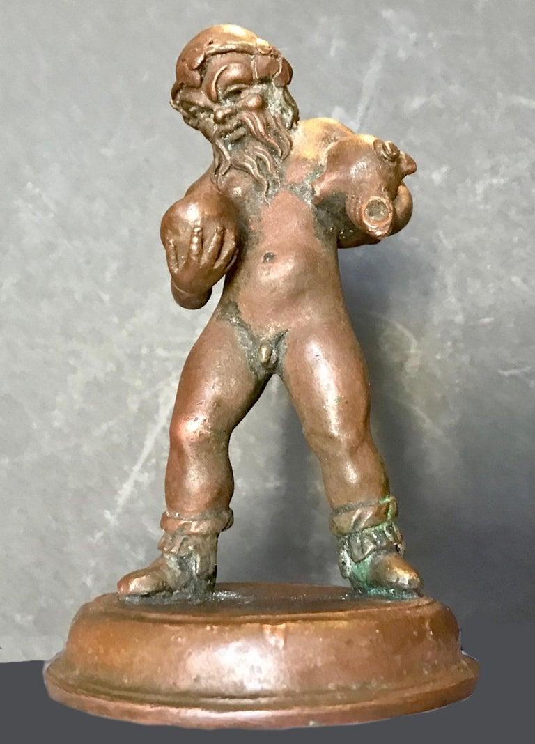16th Century North Italian Bronze Statuette of Aquarius After the Antique For Sale 1