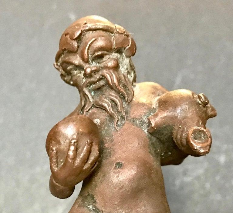 16th Century North Italian Bronze Statuette of Aquarius After the Antique For Sale 2