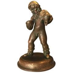 16. Jahrhundert, Nord-italienische Bronzeskulptur, Wassermann nach der Antike
