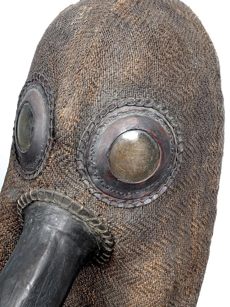 After 100's of years it's understandable that here are only 5 of original black plague helmets still in existence. All are now in Museums... but there are more museums out there than original helmets. The example pictured was a hand-made replica