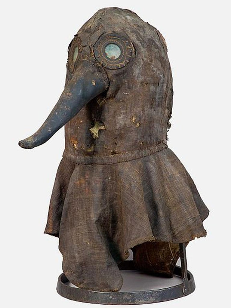 Canvas 16th Century Plaque Helmet, One of a Kind Museum Display Model For Sale