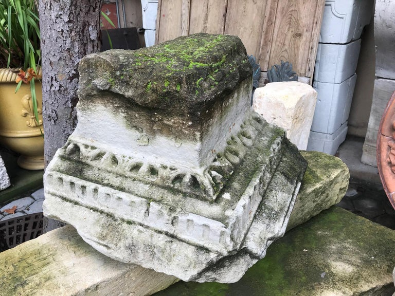 16th Century Renaissance Carved Capital Stone Base Architectural Element, France For Sale 3
