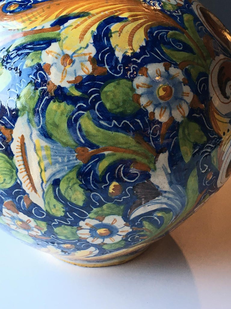 18th Century and Earlier 16th Century Renaissance Italian Maiolica Vase Venice, circa 1570  For Sale