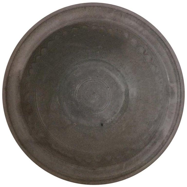 16th Century Sawankhalok Thai Celadon Dish For Sale