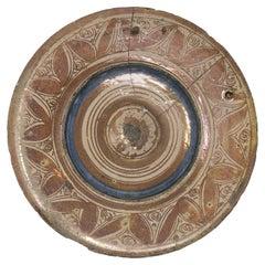 16th Century Spanish Valencian Manises Lusterware Ceramic Plate