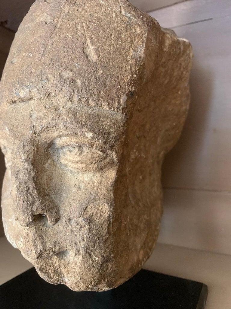 16th Century Stone Head For Sale 3
