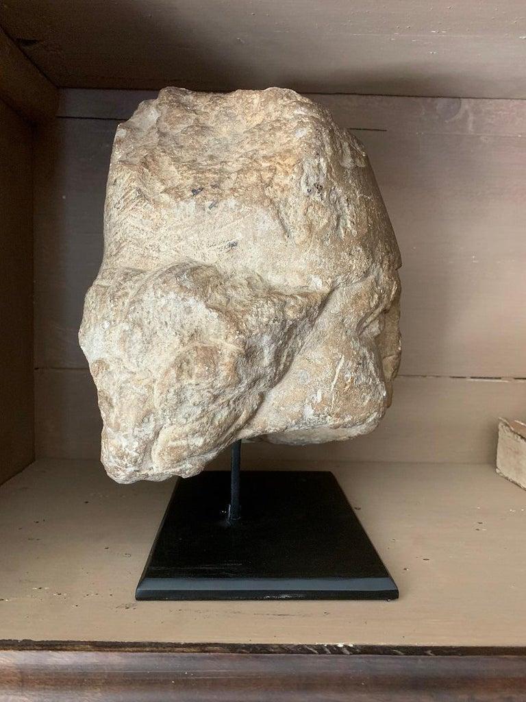 16th Century Stone Head For Sale 7