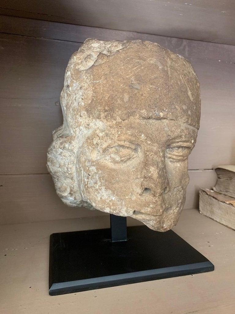 16th Century Stone Head For Sale 8