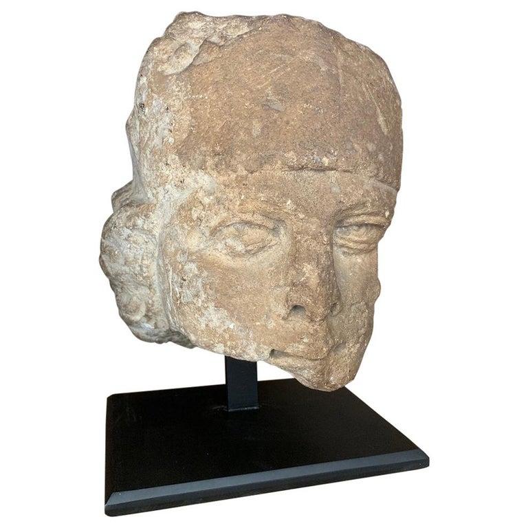 16th Century Stone Head For Sale