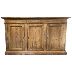 16th Century Style Benevento Old Chestnut 3 Door Credenza available custom size