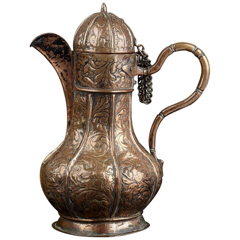 16th Century Venetian Copper Ewer For Sale