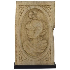 17/18th Century French Carved Oak Panel