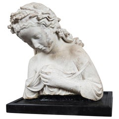 17/18th Century Marble Bust of Young Woman