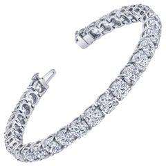 17 Carat Round Cut Diamond Tennis Bracelet