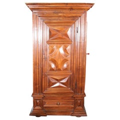 17 Century Armoire with Side Gun Door in Walnut from France