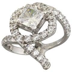 1.70 Carat Approximate Princess Diamond Ring, Ben Dannie