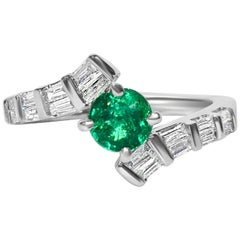1.70 Carat Colombian Emerald Diamond Cocktail Engagement Ring