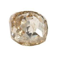1.70 Carat Cushion Double Rose GIA Certified Fancy Light Yellowish Brown Diamond