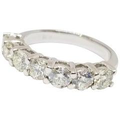 1.70 Carat Diamond Half Band 14 Karat White Gold