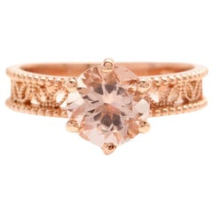1.70 Carat Exquisite Natural Morganite 14 Karat Solid Rose Gold Ring