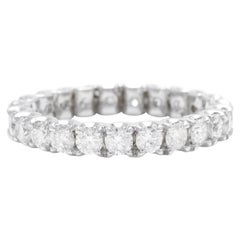 1.70 Carat Natural Diamond 14 Karat Solid White Gold Eternity Ring
