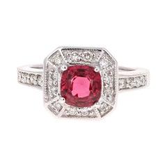 1.70 Carat Spinel Diamond 14 Karat White Gold Ring