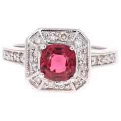 1.70 Carat Spinel Diamond 14 Karat White Gold Ring