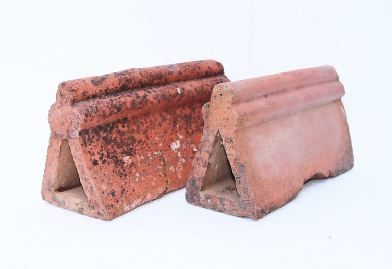 Antique Terracotta Garden Edging For Sale 1