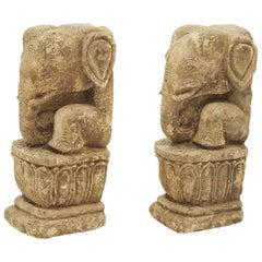 1700-1800 Century Elephants, Carved in Sandstone