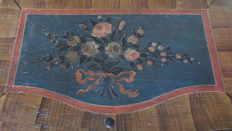 Italian 1700 Shaped Blanket Chest, North Italy