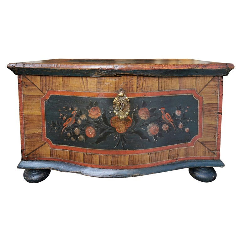 1700 Shaped Blanket Chest, North Italy
