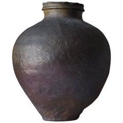 1700s-1850s Japanese Tokoname Pottery Edo Period/Tsubo Jar Vessel Vase Wabi Sabi