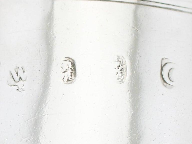 Sterling Silver 1700s Georgian Britannia Standard Silver Mug For Sale