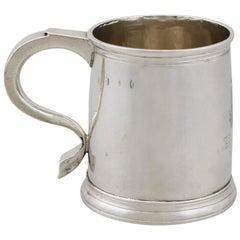 1700s Georgian Britannia Standard Silver Mug