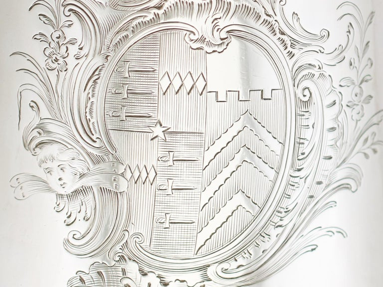 1705 Antique Britannia Standard Silver Chocolate Pot For Sale 4