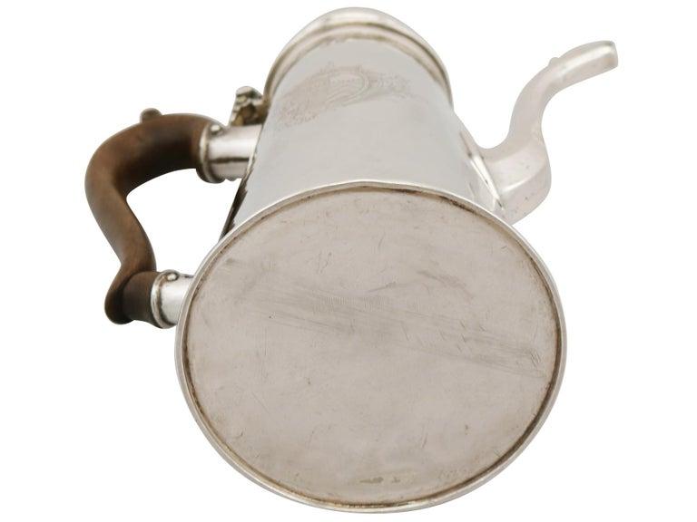 1705 Antique Britannia Standard Silver Chocolate Pot For Sale 7