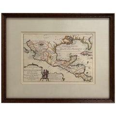 1705 Golfe de Mexico and Florida Framed Map