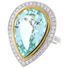 17.13 Carat Natural Paraiba Tourmaline GIA Certified 18 Karat White Gold