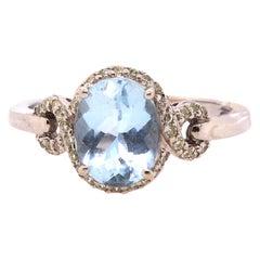1.72 Carat Aquamarine Engagement Ring